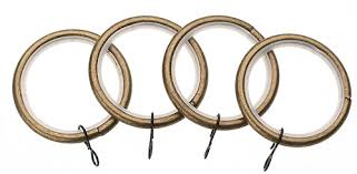 Universal Curtain Track Universal 28mm Metal Curtain Pole Rings Antique Brass Just