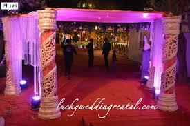 pillars decorations on rent lucky wedding rental