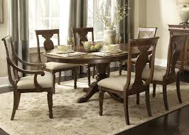 buy rustic tradition oval pedestal table by liberty from www