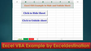 vba code to hide and unhide sheets excel vba example by