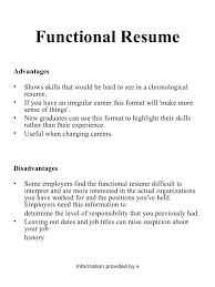 Samples Of Functional Resume by Sample Chronological Resume Template Free Resumes Tips Resume