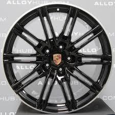 porsche cayenne replica wheels porsche cayenne turbo twist spoke 20 inch gloss black alloy wheel
