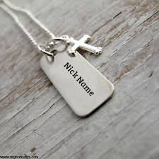 Couple Name Necklace Write Couple Name On Silver Bar Necklaces Pictures Wishes