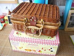 kids picnic basket free shipping baby toys picnic basket food set wooden play food