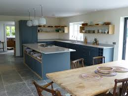bespoke kitchen island slate gray and oak bespoke kitchen by henderson furniture
