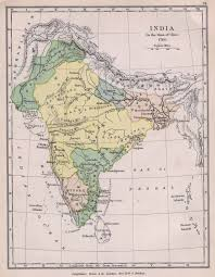 South India Map by Historical Maps Of India