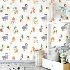 monkey wallpaper for walls holden jungle friends childrens animal wallpaper lion monkey kids