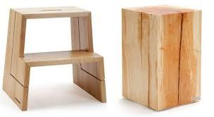 accessoires cuisine design accessoires cuisine bois marchepied à 2 marches et tabouret tronc