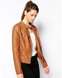 light brown leather jacket womens women s tan leather jackets from asos women s fashion
