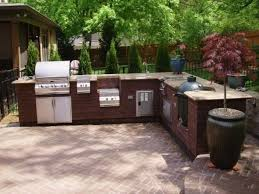 l shaped outdoor kitchen crafts home