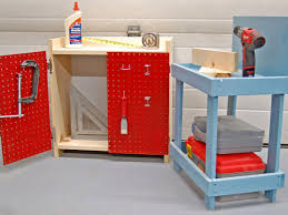 Homemade Play Kitchen Ideas How To Create An Easy Kids U0027 Workbench Hgtv