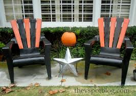 Colored Adirondack Chairs Halloween Adirondack Chairs The V Spot