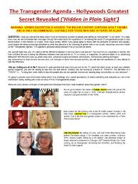 Definition Of Vanity The Transgender Agenda Hidden In Plain Sight April 2017