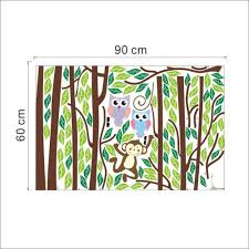 Nursery Monkey Wall Decals Sticker Signs Picture More Detailed Picture About Monkey Owl