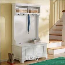 hall tree with storage bench coat rack shoe storage 4 hooks mud