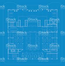 Floor Plan Blueprint Office Architectural Plan Blueprint Stock Vector Art 657327334