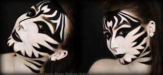 Tiger Halloween Makeup by Zebra Halloween Makeup Youtube