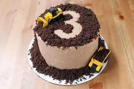 a construction themed birthday menu mango and chocolate swiss
