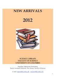 New Arrivals For The Year 2012