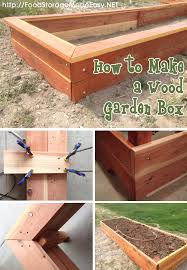 Building A Wood Table Top by How To Build A Wood Garden Box Garden Boxes Wood Gardens And