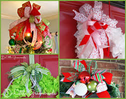 christmas wired ribbon how to make an easy bow for wreaths and door hangers