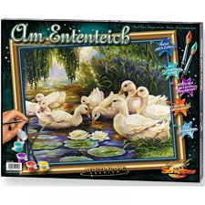 duck pond paint by numbers schipper from craftyarts co uk uk