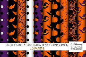 10 halloween seamless pattern paper pac design bundles