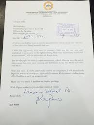 Thank You Letter Boss For The Opportunity mar roxas in resignation letter i will not let bosses down news