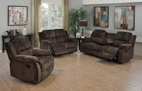 Recliner Sofas And Loveseats 3 piece chocolate chenille reclining sofa loveseat and reclining