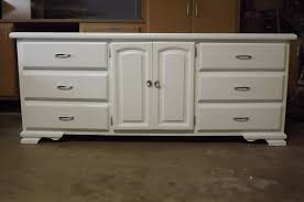 Glossy White Dresser Yellow House Make It Over Dated Dresser To Contemporary