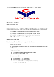 Authorization Letter Check Encashment overall banking system and performance analysis of ncc bank