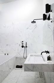 Black Bathroom Fixtures 16 Marble Bathrooms With Black Fixtures Marbles Lights