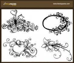 ornaments composed of letters 03 vector free vector