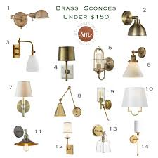 Brass Sconces Brass Wall Sconces Under 150 Sita Montgomery Interiors