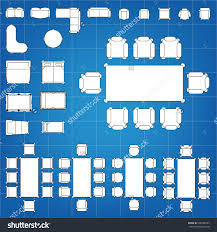 100 furniture icons for floor plans top view interior