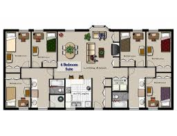 flat plans 4 bedroom flat floor plan home design