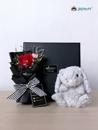 teddy gram delivery jellycat bunny 50gram online florist penang