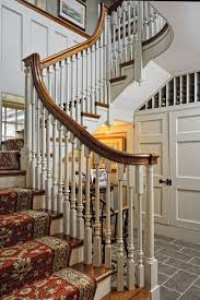 modern stair runner ideas staircase farmhouse with wood paneling