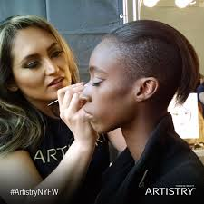 new york makeup artists amway and artistry join pamella roland at new york fashion week