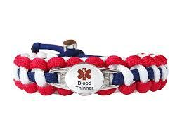 blood bracelet images Medical id blood thinner paracord bracelet handmade by us jpg