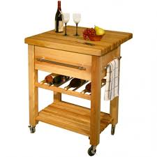simple mist grey color wooden kitchen island with wine rack with
