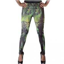 absinthe fairy printed gothic leggings footless tights