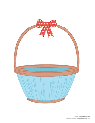 basket easter easter basket template easter basket clipart easter craft