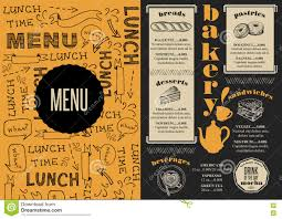 Bakery Price List Template Coffee And Bakery Menu On Chalkboard Template Stock Vector Image
