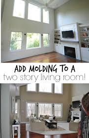 Adding Molding To A Wall Moldings Living Rooms And Room - Two story family room decorating ideas