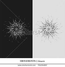 black white abstract isolated ornaments sophisticated stock vector