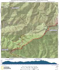 Great Smoky Mountains National Park Map At In Nc Newfound Gap To Low Gap