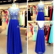 real sample evening dresses royal blue colour a line princess