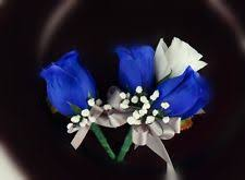 royal blue boutonniere 2pc set wrist corsage boutonniere white royal blue ebay