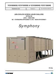 york chiller yciv eng data duct flow gas compressor